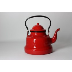 Emaille waterketel Rood 1Liter