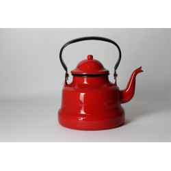 Emaille waterketel rood 1.5...